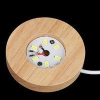 Lampensockel Art Ornament Holz Lichtbasis Wiederaufladbare Fernbedienung Holz LED-Licht rotierender Anzeigeständer Lampenhalter