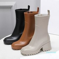 Luxurys Designers Women Rain Boots England Style Waterproof Welly Rubber Water Rains Shoes Ankle Boot Booties