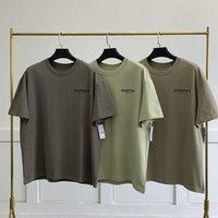 Haute Qualité 21SS design de base T-shirts Poitrine Logo Street Style Street Manches courtes Lâche surdimensionnée T-shirts de coton pour hommes et femmes Tops à la mode