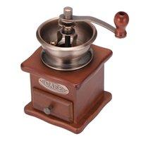Moedores de café manuais moedor de feijão mão de madeira aço inoxidável de aço inoxidável