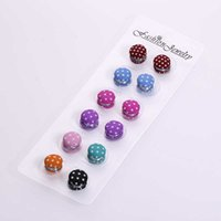 Pack of 12 Fashion Women Muslim Multi-Use Rhinestone Magnetic Scarf Brooch Round Hijab Pins Kit Magnetic Safety Pins H1018