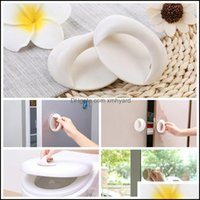 Aessories Furniture Home & Garden 4 Colors Imported Paste Type Wardrobe Durable Abs Round Mtifunction Sliding Door Glass Window Handle Dh065