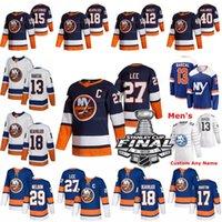 2021 Stanley Cup Final Anders Lee New York Islanders Jersey Mathew Barzal Brock Nelson Anthony Beauvillier Matt Martin Casey Cizikas Jean-Gabriel Pageau Palmieri