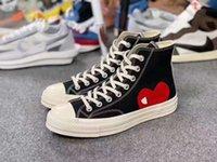 CDG Play x Converse 1970s 2020 Novo Luxo Clássico Skate Shoes Brincadeiras Chuck Canvas Conjuntamente Big Eyes High Top Dot Cora??o Mulheres Homens Fashion Designer Sneakers Chaus