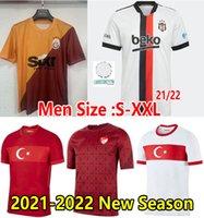 2021 Besiktas Soccer Jersey تركيا المنتخب الوطني الفانيلة كرة القدم Celik Demiral Ozan Kabak Calhanoglu Yazici 21 22 Galatasaray الصفحة الرئيسية قميص الرجال