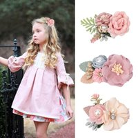 Hair Accessories Cute Clips Pins For Baby Girls 2021 Chiffon Flower Toddlers Hairpin Kids Ornaments Hairclip