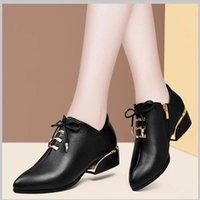 Dress Shoes Cresfimix Sapatos Azuis Women Fashion Sweet Beige Square Heel Pumps Lady Casual Autumn & Winter Pu Leather A7065