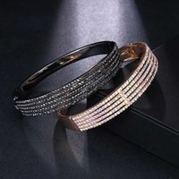Bangle AMC Trendy Couple 2 Colors Shiny Crystal Cable Chain Whole Zircon Lucky Bracelet Women's Jewelry Gifts 2021