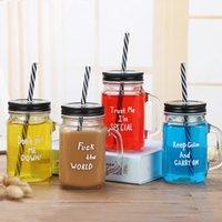 15oz Summer Fruit Creative Tumblers Mugs Restaurant Bar Cafe Drink Cup Tumbler With Straw Drinks Cups Mason Mug Wholesale