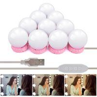 10 adet Makyaj Aynası Ampul Hollywood Stil Vanity LED Lamba Kiti Parlaklık Ayarlanabilir Ultra Parlak Işıklı Makyaj Aynaları Kozmetik Işıklar