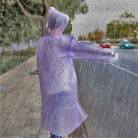 3000 unids / lot Desechable PE impermeable adulto Un solo tiempo de emergencia a prueba de agua Poncho Camping Must Coat Rainwear Outdoor Walkwear 564 S2