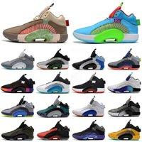 Jumpman 35 XXXV Bayou Boys Williamson Ağırlık CHICAGO MORPHO DNA Kardeşhood Basketbol Ayakkabıları Boyutu 40-46