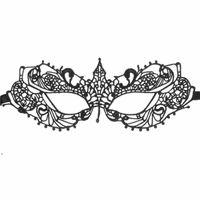 Mascarillas de ojos de encaje sexy de mujer negra Máscaras de fiesta para masquerade Halloween Trajes venecianos Máscara de carnaval para Anonymous DWB8860