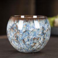 Cups & Saucers Ceramic Tea Cup Porcelain Kiln Change Anti-scalding Master Teaware Wine Single Teacup