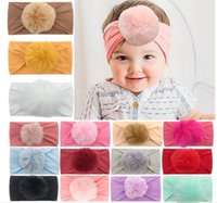 Whole Baby Headbands Hair Stretchy Hairbands for Newborn Infant with a ball Toddler Hair Accessories Kids Handmade