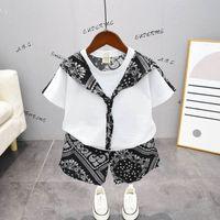 Boys Clothing Sets Kids Suits Children Outfit Baby Clothes Summer Cotton Short Sleeve T-shirts Shorts Pants 2Pcs B7060