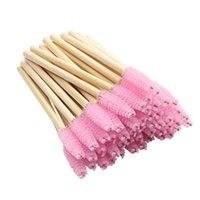 Wholesale Disposable Bamboo Eyelash Brush nylon Cosmetic Tool Mascara Applicator Eyelashes Comb Makeup Brushes