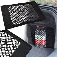 Car Back Rear Trunk Storage Net Seat Elastic String Net Magic Sticker Mesh Storage Bag Pocket Cage Auto Organizer Seat Back Bag