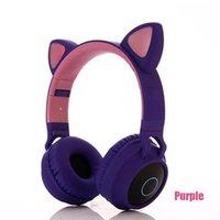 حار 5 ألوان القط الأذن الصمام اللاسلكية بلوتوث سماعة بلوتوث 5.0 أطفال سماعات متوهجة ضوء يدوي سماعة سماعة الألعاب سماعات للكمبيوتر