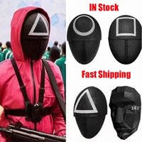 TV Squid Game Masked Man Masks Round Squire Triangle Mask Accessories Delicate Halloween Masquerade Costume Party Props LLB11128