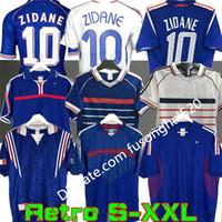 1998 Retro 2002 Zidane Henry Soccer Jerseys 1996 2004 Football 1984 Camisa Trezeguet 1982 Francia 2006 Deschamps 2000 PIRES MAILLOT DE FOTBAL