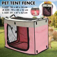 Портативная складная прямоугольная домашняя палатка для домашних животных Собака CAGE CAGE PLAYPEN забор Peake Щенок Питомник Cat Pet Play Tents Туннель дышащий Дом для собак S / M / L