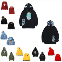 남성 상어 후드 Luminous 위장 고품질 스웨터 망과 여성의 후드 스웨터 자켓 가져 오기 토트 백 0402