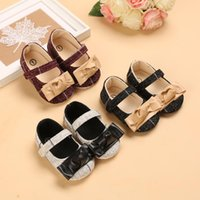 First Walkers Baby Girl Of Spring And Autumn Style Lovely Bowknot All Match Garden Shoe Princess 0-18 Months Born Step Shoes