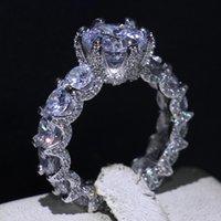 Victoria WIEeck Infinity Choucong Brand New Vintage Modeschmuck 925 Sterling Silber Runde Schnitt Weiß Topas CZ Diamant Edelsteine Frauen Ring