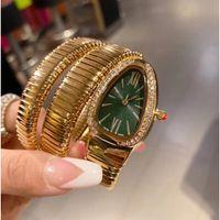 ニューレディレディブレスレットウォッチゴールドスネーク腕時計トップブランドステンレススチールバンドレディースウォッチレディースバレンタインギフトクリスマスプレゼント