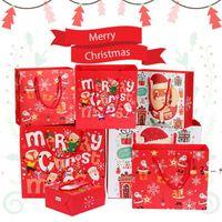 Merry Christmas Gift Bags Xmas Tree Plastic Packing Bag Snowflake Christmas Candy Box New Year 2021 Kids Favors Bag Decor EWB10495