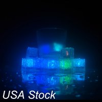 Waterproof light Ice Cube,Multi Color Flashing Glow in The Dark LEDs Lights Up ices Cube for Bar Club Drinking Party Wine Wedding USA stock