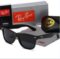 고품질 레이 남자 여성 선글라스 빈티지 파일럿 웨이 패 브랜드 태양 안경 밴드 UV400 Bans Ben 상자 및 케이스 2140 R2