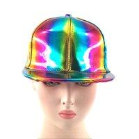 2018 럭셔리 패션 힙합 모자 무지개 색상 모자 뚜껑을 변화하는 미래의 소품 소품 Bigbang G-Dragon 야구 모자