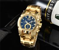En Invicta İzle Erkek Moda Lüks Saatler Altın Büyük Arama Tarihi Klasik Stil Tasarımcı Erkekler Saatı