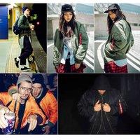 Kış Bombacı MA-1 Erkekler Askeri Hava Kuvvetleri 1 Erkek Pilot Ceket Ordusu Beyzbol Ceket Sonbahar Erkek Kız Giyim Kadın B1PZ