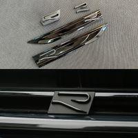Matte New R Line Logo autocollant autocollant porte de voiture porte arrière côté couteau couteau 3D badge logo gril avant pour vw golf 7 mk7 mk7.5 golf 8 mk8