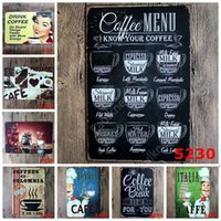 new Metal Tin Sign Iron Painting Drink Coffee Painting Vintage Craft Home Restaurant Decoration Pub Signs Wall Art Sticker Sea Shipping DHF61