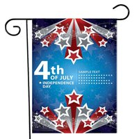 4 Temmuz Bahçe Bayrağı Bağımsızlık Günü ABD Amerikan Vatansever Anıt Bahçe Bayrakları Ev Dekor için 18x12.5 inç ZZE5143