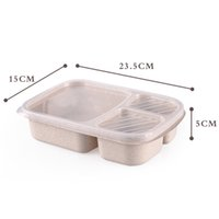newWheat Straw Lunch Box Microwave Bento Boxs Packaging Dinner Service Quality Health Natural Student Portable Food Storage EWB5981