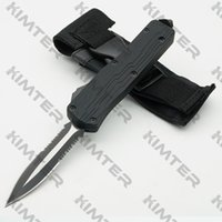 KT07E Dual action out the front Automatic Knife Unique stepped handle 440C Steel 2-tone Blade EDC Tactical Tool hunting Pocket Auto Knives Cncostco