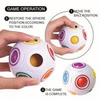 Rainbow Magic Ball Plastic Cube Puzzle Juguete Niños Adulto Anti estrés Presión Alivio Controlador Educativo Juguete educativo