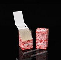 Tubo de vidrio de rosa de amor de cristal con flor de plástico dentro de 36pcs en una caja de cristal Tubo de humo Tubo de tabaco Accesorio de humo # 144