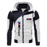 Mens Designer t shirts 2021 Bmw Jacket Men Sweatshirt Zipper Hoody Spring Autumn Fleece Cotton Hoodies Harajuku Male Clothing Coat G8V5