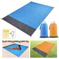 Outdoor Pads 2x2.1m 2x1.4m Pocket Sand Beach Blanket Folding Camping Mat Mattress Portable Waterproof Lightweight Picnic