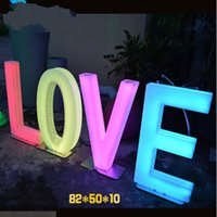 Wedding Party Decoration Luminous LED Letter Rechargeable English Alphabet Number Lamp Stage Event Background Christmas Home Decor Accessories