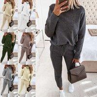 Chndal moda conjunto de 2 piezas, jersey con capucha y pantalones largos, deportivo para mujer, sudadera, traje