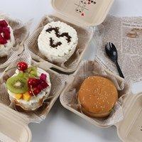 Cupcake Kek Kutusu Kağıt Ambalaj Kutusu Tek Kullanımlık Pişirme Burger Tatlı Batı Noktası El Hediye Kutusu CCF7819