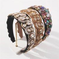 Fashion Splendido Hairbands in vetro intarsiato a mano Diamante Tutto Abbina la fascia di lusso Femmina stile barocco per donna