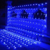 New Xmas Decorations Outdoor Waterproof Christmas Wedding Starry Decoration Light LED Fishing Net String Flashing Lights